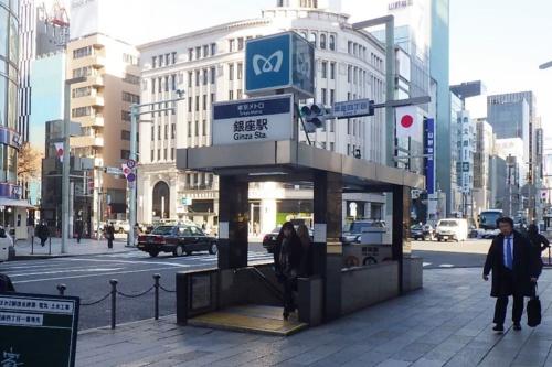 リニューアル前の出入り口(写真:東京メトロ)