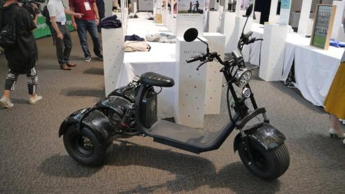 Earth Shipの公道走行可能な電動トライク(3輪バイク)「Kintone Trike」