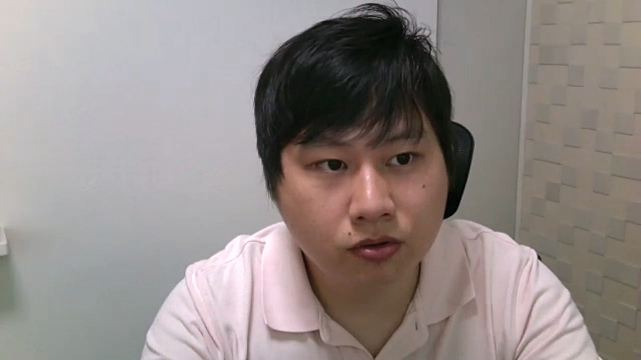 アトムテック代表取締役の青山純さん ATOM Camのソフトウエア面の開発も主導する(出所:Web会議による取材時にキャプチャー)