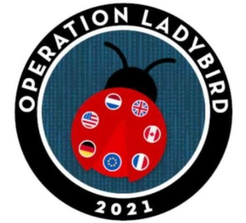 「Operation LadyBird(てんとう虫作戦)」のマーク