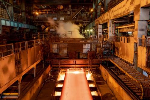 西日本製鉄所(広島県福山市)の製鋼工程