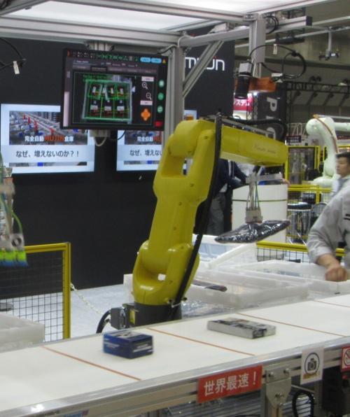 ファナック製ロボットアームをMUJIN製コントローラーで制御していたデモ