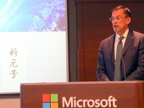 2019年1月の年頭記者会見で新元号対応を重視する方針を示した日本マイクロソフトの平野拓也社長