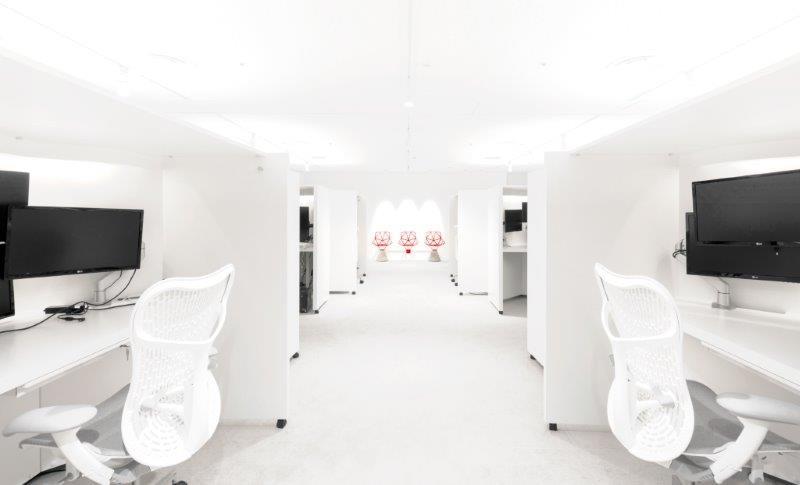 集中して作業に没頭し、生産性を高める部屋「R&Dルーム」の全景 (出所:SHIFT)