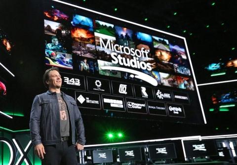 マイクロソフトのゲーム事業を率いてきたフィル・スペンサー氏は、18年にGaming エグゼクティブ バイスプレジデントに就任。写真は、18年6月のElectronic Entertainment Expo(E3)