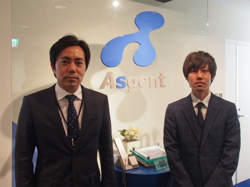 アズジェントプロダクト営業本部長の杉山卓也取締役とビジネス開発部の太田智博氏