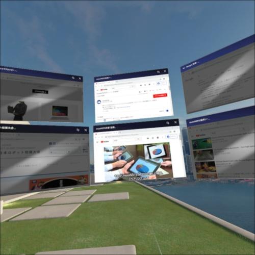 VR空間でGoogle Chromeを起動した様子。従来は起動できなかった