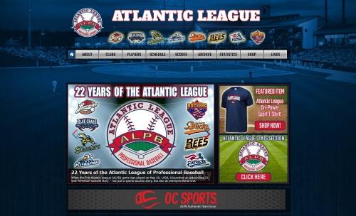米独立リーグ・アトランティックリーグのホームページ