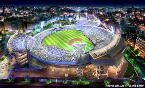 横浜スタジアムの改修後のイメージ