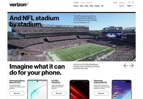 ベライゾンは米国の13のNFLスタジアムで、同社の5Gサービスである「5Gウルトラ・ワイドバンド」が利用可能となったと発表した