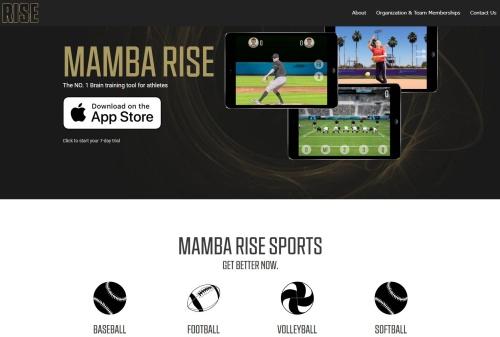 NBAのレジェンド、コビー・ブライアント氏などが設立したMamba Sports Venture Labのホームページ