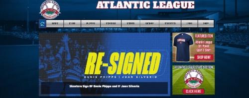 米独立リーグのアトランティックリーグのWebページ