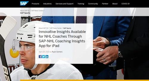 モバイルアプリ「SAP-NHLコーチングインサイト」の紹介ページ