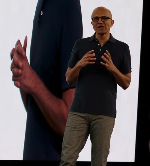 米マイクロソフトのサティア・ナデラCEO(最高経営責任者)