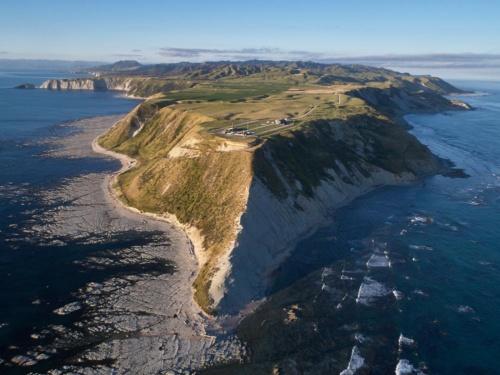 マヒア半島先端に位置する射点「ロケットラボLC1」の全景(写真:ロケットラボ)