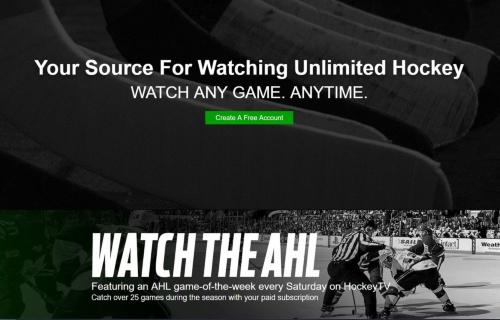 図1 アマチュアリーグを中心に、アイスホッケーを毎シーズン2万試合以上ライブ中継している「HockeyTV」のWebページ