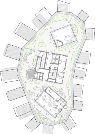 地上17階平面図(資料:Sou Fujimoto Architects)