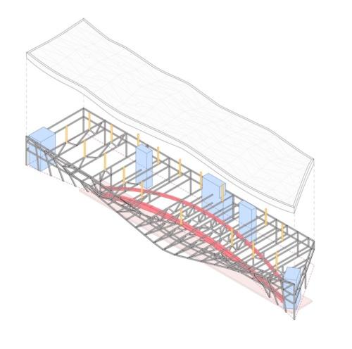 建物の構造イメージ(資料:ALA Architects)