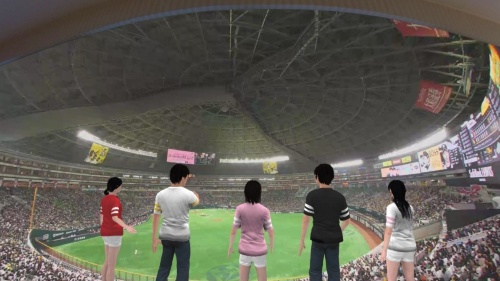 ソフトバンクが開発したVR試合観戦システムのイメージ