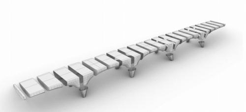 3Dプリンターで製作可能な大きさや形状のパーツごとに造って組み立てる(資料:BAM Infra)