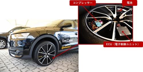 図1 Continentalが開発中の空気圧を可変するタイヤ「Conti Adapt」