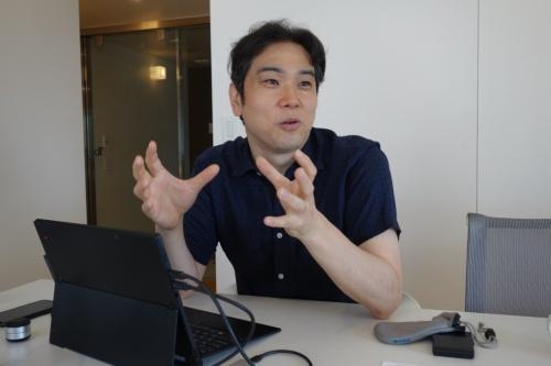 アンズスタジオとアットロボティクス両社の代表取締役である竹中司氏(写真:日経アーキテクチュア)