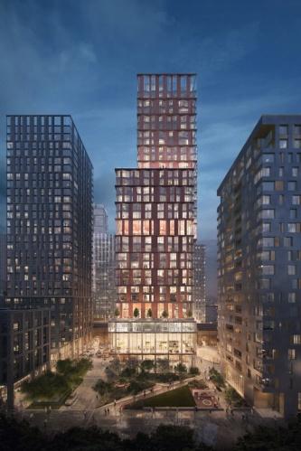 バンクサイドヤードではオフィスや住宅など複数の機能をミックスさせる(資料:PLP Architecture)