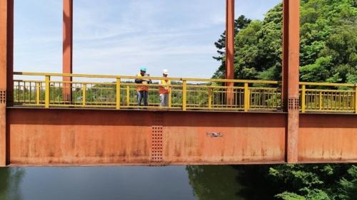 2018年度に君津市が実施したドローンのテスト飛行の様子(写真:君津市)