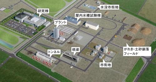 福島ロボットテストフィールドの完成イメージ