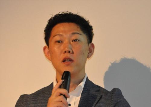 不動産テック協会代表理事の赤木正幸氏(写真:日経 xTECH)