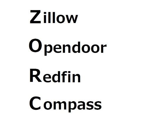 米国不動産テックの巨人「ZORC」(ゾーク)とは、Zillow(ジロー)、Opendoor(オープンドア)、Redfin(レッドフィン)、Compass(コンパス)の頭文字を並べた言葉だ。「GAFA」の不動産テック版である(資料:市川紘)
