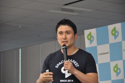 スペースマーケット代表取締役で最高経営責任者(CEO)の重松大輔氏(写真:日経 xTECH)