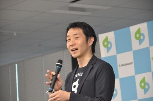 スペースマーケット執行役員でビジネス開発部部長の井上真吾氏(写真:日経 xTECH)