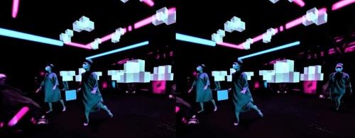 会場にいる全員が仮想空間に移動したかのように思える瞬間(資料:ライゾマティクス)
