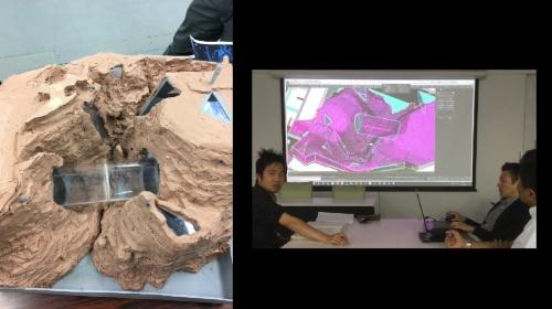 日本設計はコンピュテーショナルデザインで海底地形や水中トンネル、窓のプランを検討した。アイデアが固まったら、粘土で模型をつくって検証した(資料:日本設計)
