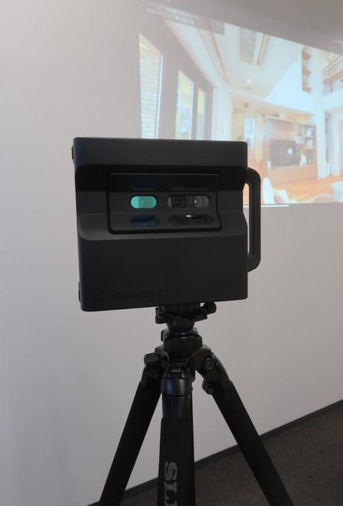 米マーターポート(Matterport)の3D赤外線スキャンカメラ(写真:日経アーキテクチュア)