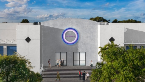 米マイアミに新設されるアート施設「Superblue Miami(スーパーブルー マイアミ)」。事業者はメガギャラリーの米ペースだ。コロナ禍で開業を延期してきたが、早ければ2021年4月末から同年5月にもオープンする予定だという(資料:Superblue Miami rendering. Photo: Moris Moreno)