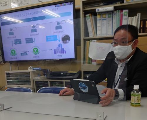 東急建設建築事業本部技術統括部の林征弥BIM推進部長(写真:日経クロステック)