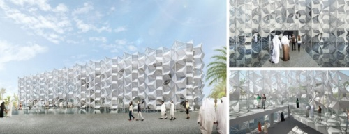 ドバイ万博「日本館」の建築設計にも、永山氏の事務所が参画している(資料:経済産業省)