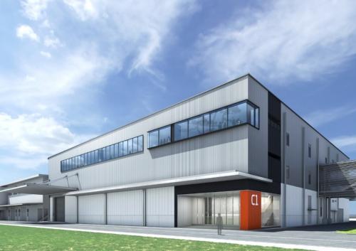 新工場の完成イメージ(資料:大林組)