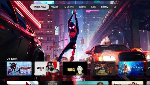配信コンテンツは自社アプリ「Apple TV」とWebブラウザー上で視聴できる