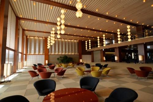 谷口吉生氏が再現したホテルのロビー(写真:日経アーキテクチュア)