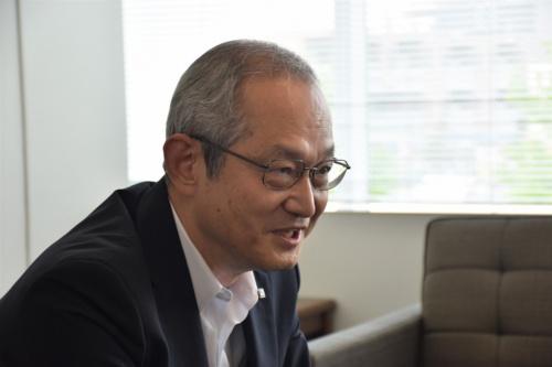 鹿島技術研究所長の福田孝晴常務執行役員(写真:日経アーキテクチュア)