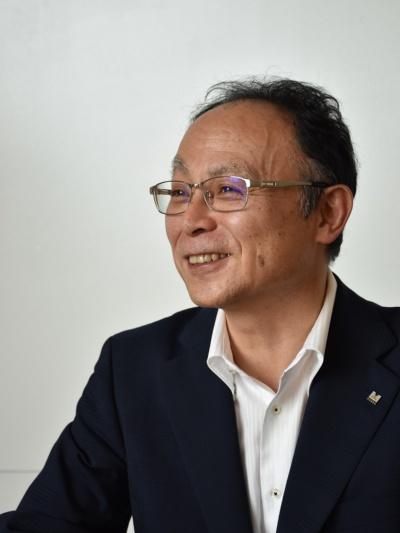 前田建設工業ICI総合センター長の三島徹也執行役員(写真:日経アーキテクチュア)