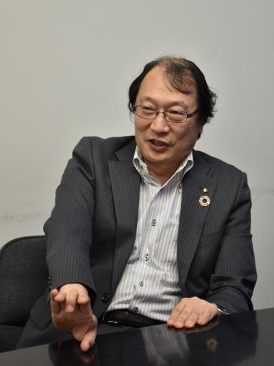 竹中工務店技術本部長の村上陸太執行役員(写真:日経アーキテクチュア)