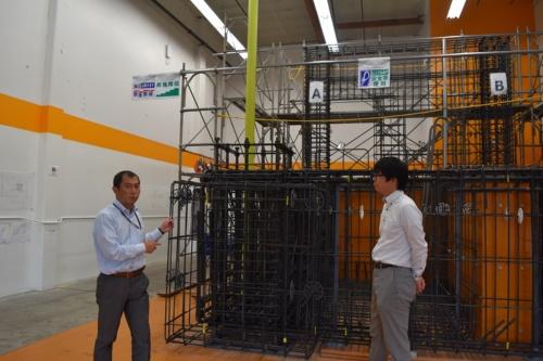 大林組のシリコンバレー・ベンチャーズ&ラボラトリに設けた配筋検査の実験設備(写真:日経コンストラクション)