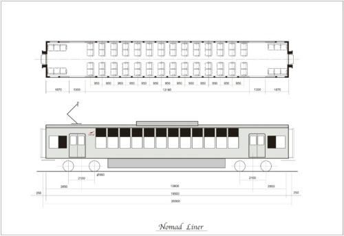図1 ノマドライナー用の平屋電動車