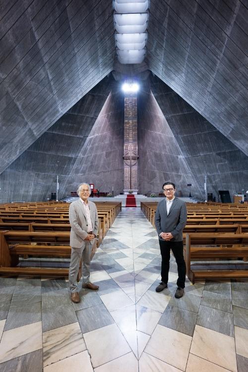 東京カテドラル聖マリア大聖堂にて(写真:稲垣 純也)