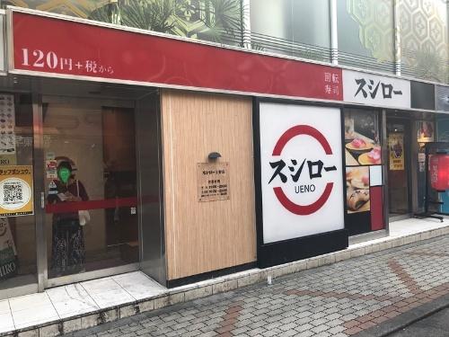 「SUSHIRO 上野店」の外観