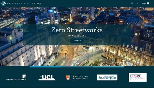 2050年までに道路工事をなくす目標を掲げる英国の研究プロジェクト(資料:Self Repairing Cities)